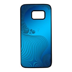 Fractals Lines Wave Pattern Samsung Galaxy S7 Black Seamless Case
