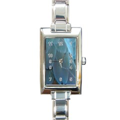 Feather Plumage Blue Parrot Rectangle Italian Charm Watch