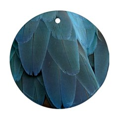 Feather Plumage Blue Parrot Ornament (round)
