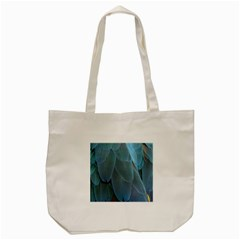 Feather Plumage Blue Parrot Tote Bag (cream) by Nexatart