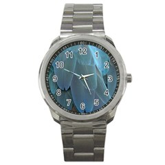 Feather Plumage Blue Parrot Sport Metal Watch by Nexatart