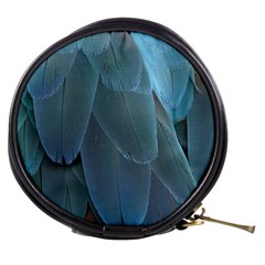 Feather Plumage Blue Parrot Mini Makeup Bags
