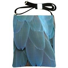 Feather Plumage Blue Parrot Shoulder Sling Bags by Nexatart