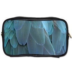 Feather Plumage Blue Parrot Toiletries Bags 2 Side by Nexatart