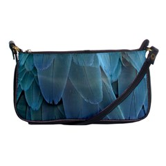 Feather Plumage Blue Parrot Shoulder Clutch Bags by Nexatart