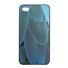 Feather Plumage Blue Parrot Apple Iphone 4/4s Seamless Case (black) by Nexatart