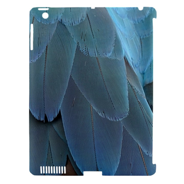 Feather Plumage Blue Parrot Apple iPad 3/4 Hardshell Case (Compatible with Smart Cover)