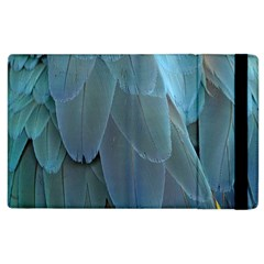 Feather Plumage Blue Parrot Apple Ipad 2 Flip Case by Nexatart