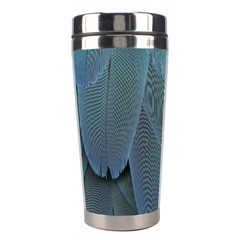 Feather Plumage Blue Parrot Stainless Steel Travel Tumblers