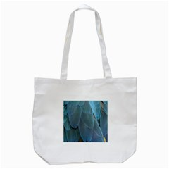 Feather Plumage Blue Parrot Tote Bag (white)