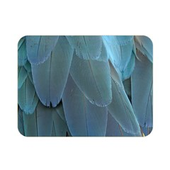 Feather Plumage Blue Parrot Double Sided Flano Blanket (mini)  by Nexatart
