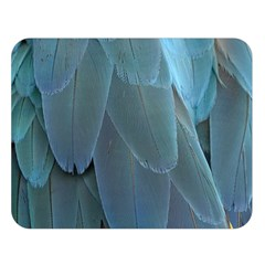 Feather Plumage Blue Parrot Double Sided Flano Blanket (large)