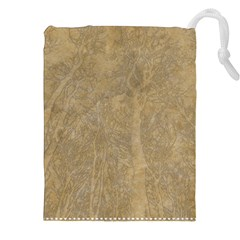 Abstract Forest Trees Age Aging Drawstring Pouches (xxl) by Nexatart
