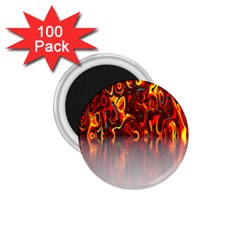 Effect Pattern Brush Red Orange 1 75  Magnets (100 Pack)  by Nexatart