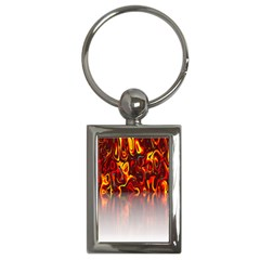Effect Pattern Brush Red Orange Key Chains (rectangle)