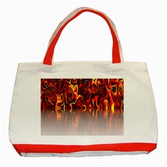 Effect Pattern Brush Red Orange Classic Tote Bag (red) by Nexatart