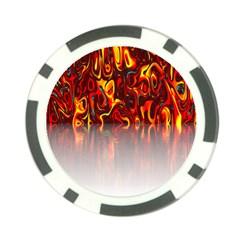 Effect Pattern Brush Red Orange Poker Chip Card Guard (10 Pack)