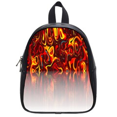 Effect Pattern Brush Red Orange School Bags (small)