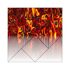 Effect Pattern Brush Red Orange Acrylic Tangram Puzzle (6  X 6 ) by Nexatart