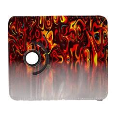 Effect Pattern Brush Red Orange Galaxy S3 (flip/folio)