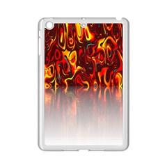 Effect Pattern Brush Red Orange Ipad Mini 2 Enamel Coated Cases