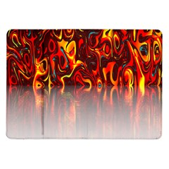 Effect Pattern Brush Red Orange Samsung Galaxy Tab 10 1  P7500 Flip Case by Nexatart