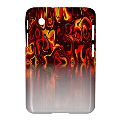 Effect Pattern Brush Red Orange Samsung Galaxy Tab 2 (7 ) P3100 Hardshell Case