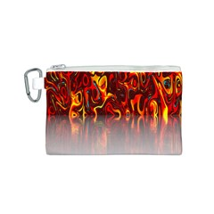 Effect Pattern Brush Red Orange Canvas Cosmetic Bag (s) by Nexatart