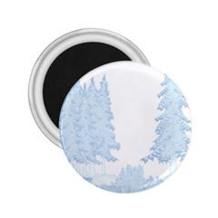 Winter Snow Trees Forest 2 25  Magnets by Nexatart