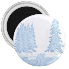 Winter Snow Trees Forest 3  Magnets by Nexatart