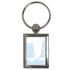 Winter Snow Trees Forest Key Chains (rectangle)
