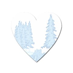 Winter Snow Trees Forest Heart Magnet by Nexatart