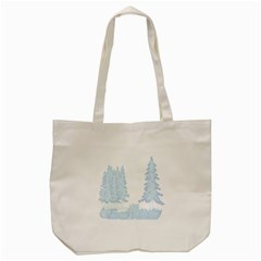 Winter Snow Trees Forest Tote Bag (cream) by Nexatart