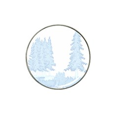 Winter Snow Trees Forest Hat Clip Ball Marker (10 Pack) by Nexatart