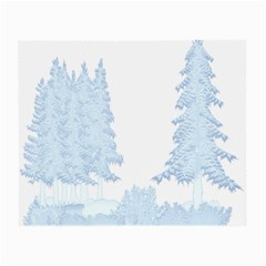 Winter Snow Trees Forest Small Glasses Cloth by Nexatart