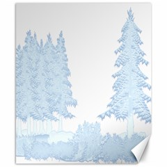 Winter Snow Trees Forest Canvas 8  X 10  by Nexatart