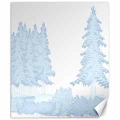Winter Snow Trees Forest Canvas 20  X 24   by Nexatart