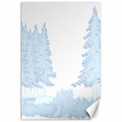 Winter Snow Trees Forest Canvas 20  X 30