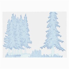Winter Snow Trees Forest Large Glasses Cloth by Nexatart