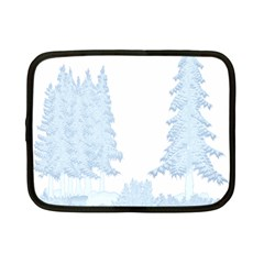 Winter Snow Trees Forest Netbook Case (small)  by Nexatart
