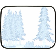 Winter Snow Trees Forest Double Sided Fleece Blanket (mini)  by Nexatart