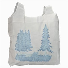 Winter Snow Trees Forest Recycle Bag (one Side)