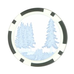 Winter Snow Trees Forest Poker Chip Card Guard (10 Pack)