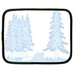 Winter Snow Trees Forest Netbook Case (xl)