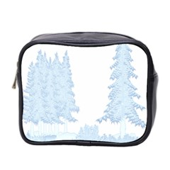 Winter Snow Trees Forest Mini Toiletries Bag 2 Side by Nexatart