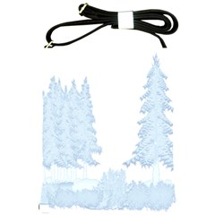 Winter Snow Trees Forest Shoulder Sling Bags by Nexatart