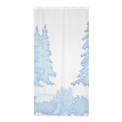 Winter Snow Trees Forest Shower Curtain 36  X 72  (stall)  by Nexatart