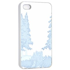 Winter Snow Trees Forest Apple Iphone 4/4s Seamless Case (white) by Nexatart