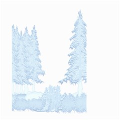 Winter Snow Trees Forest Small Garden Flag (two Sides)