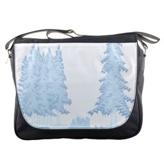 Winter Snow Trees Forest Messenger Bags